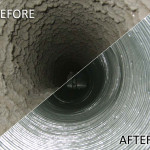 Dryer Vent Cleaning Before-After